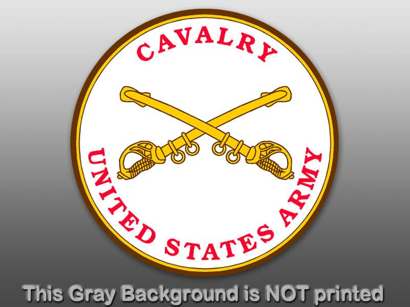 Round Cavalry US Army Seal Sticker  decal security logo