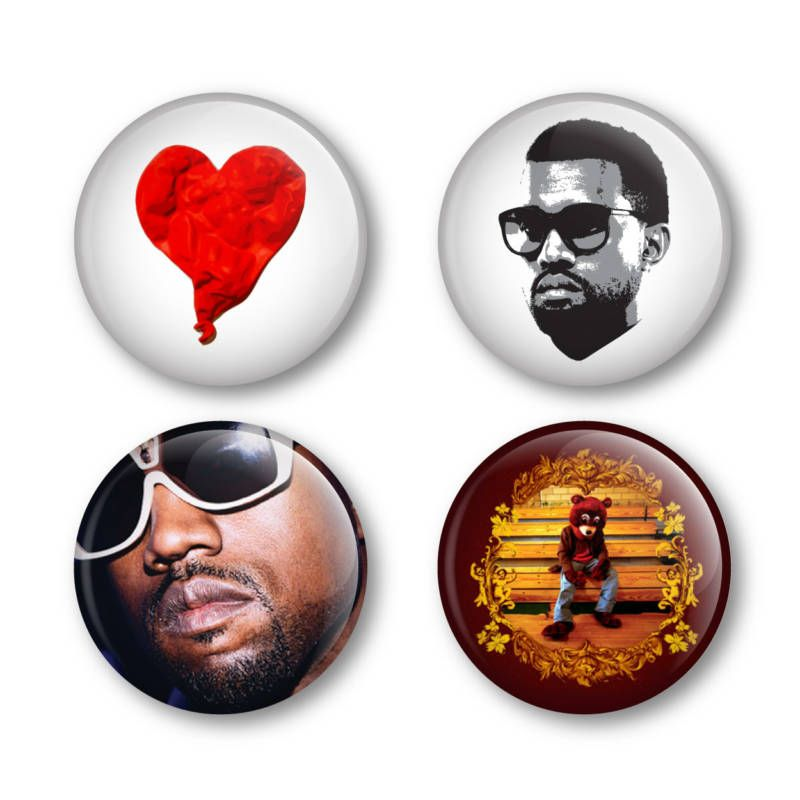 Kanye West Badges Buttons Pins Shirts Tickets Albums