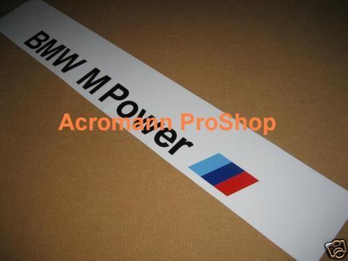 BMW M Power Windshield Sunstrip Decal Sticker M3 M5 Z4