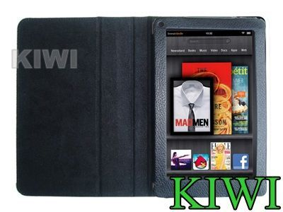 Leather Case Built in Flip Stand Cover For  Kindle Fire Tablet
