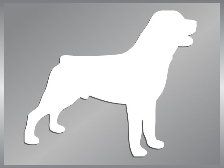 ROTTWEILER silhouette cut vinyl decal dog sticker #1
